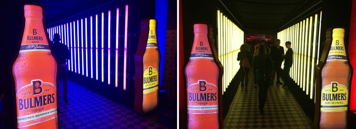 Entrance BULMERS Live Colourful LIVE