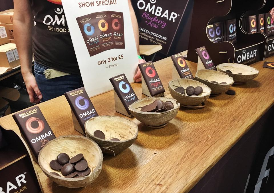 Vegfest London stall: The Raw Chocolate Shop (Ombar Chocolate)