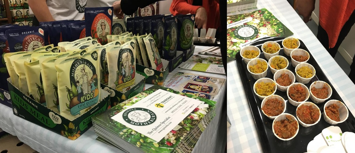 Vegfest London stall: Quinola Wholegrain