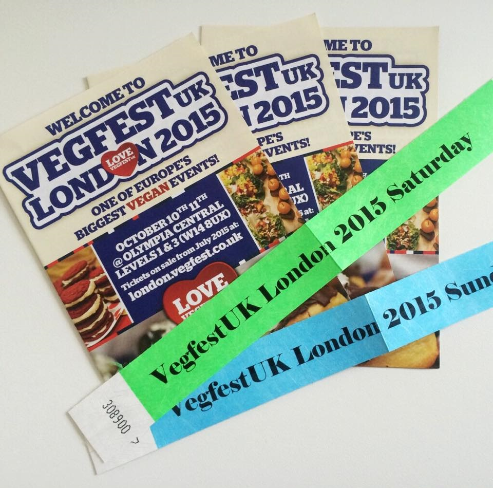 Vegfest London wristbands tickets
