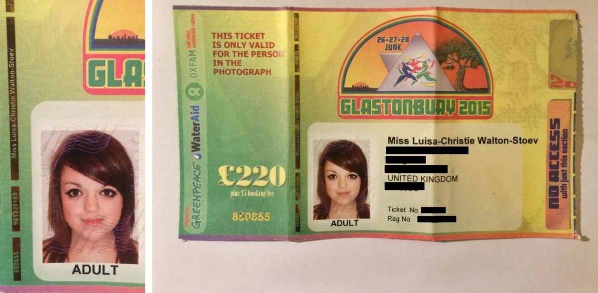 Glastonbury 2015 ticket