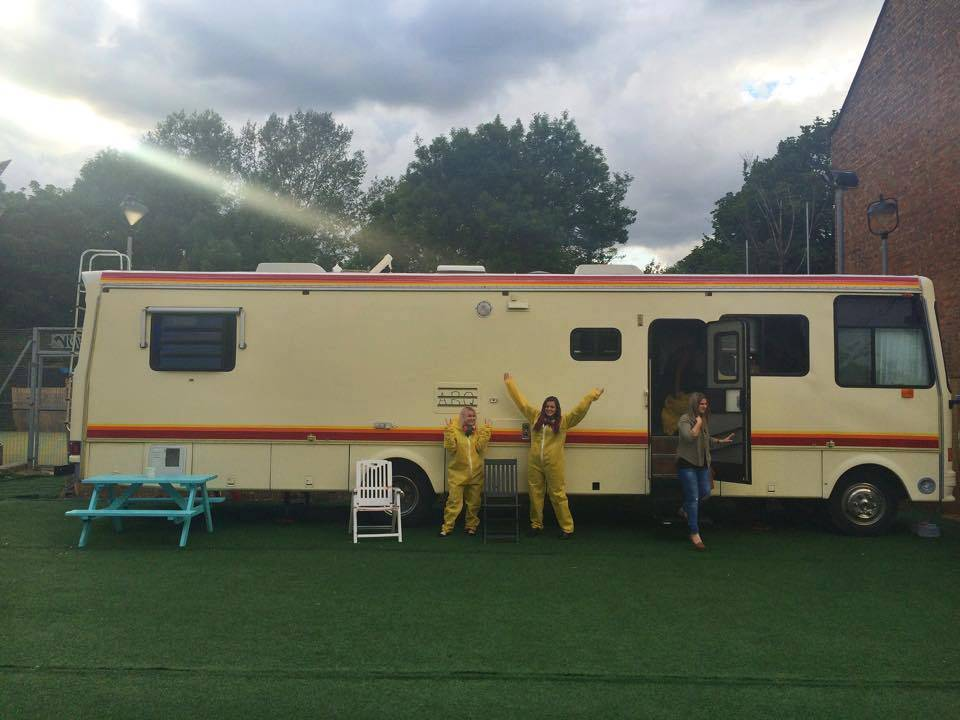 ABQ London RV Breaking Bad Shoreditch Hackney Yellow Jumpsuits