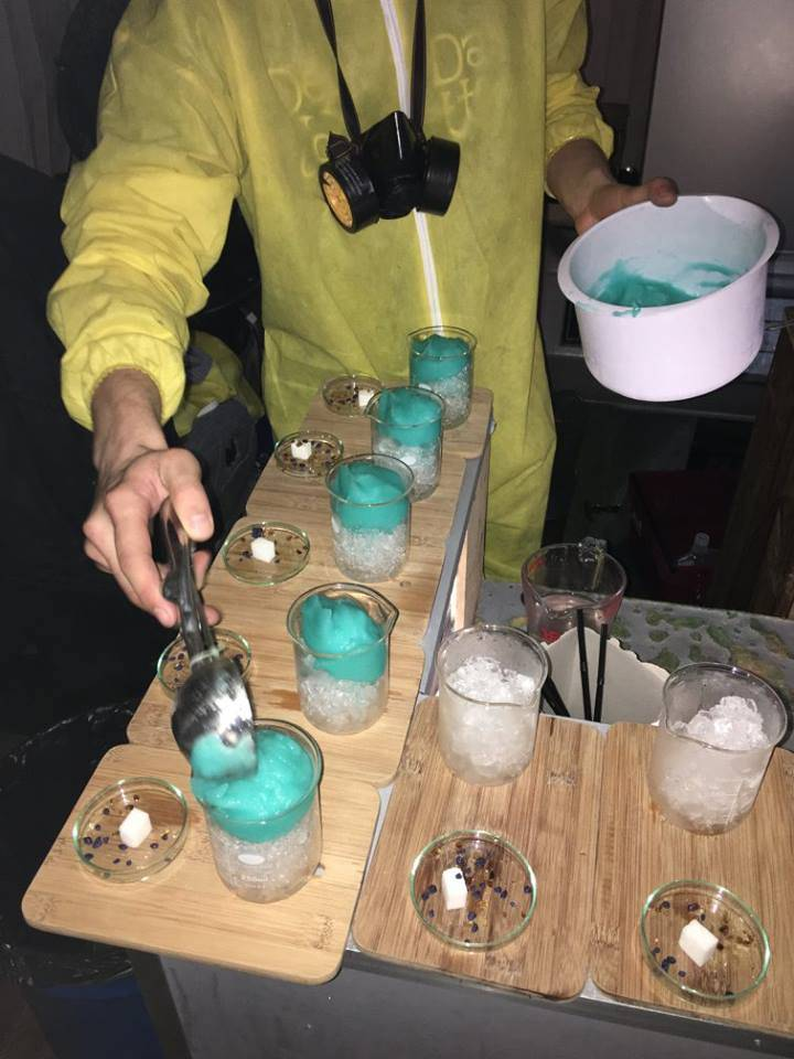 Take 2: Prepping cocktails @ Breaking Bad Bar - ABQ London