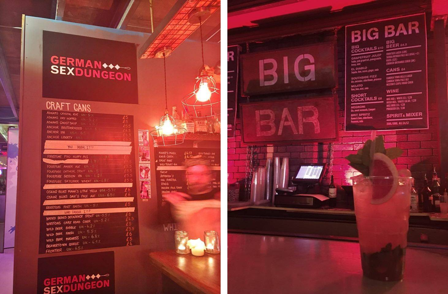 German Sex Dungeon & Big Bar @ Dinerama, Shoreditch