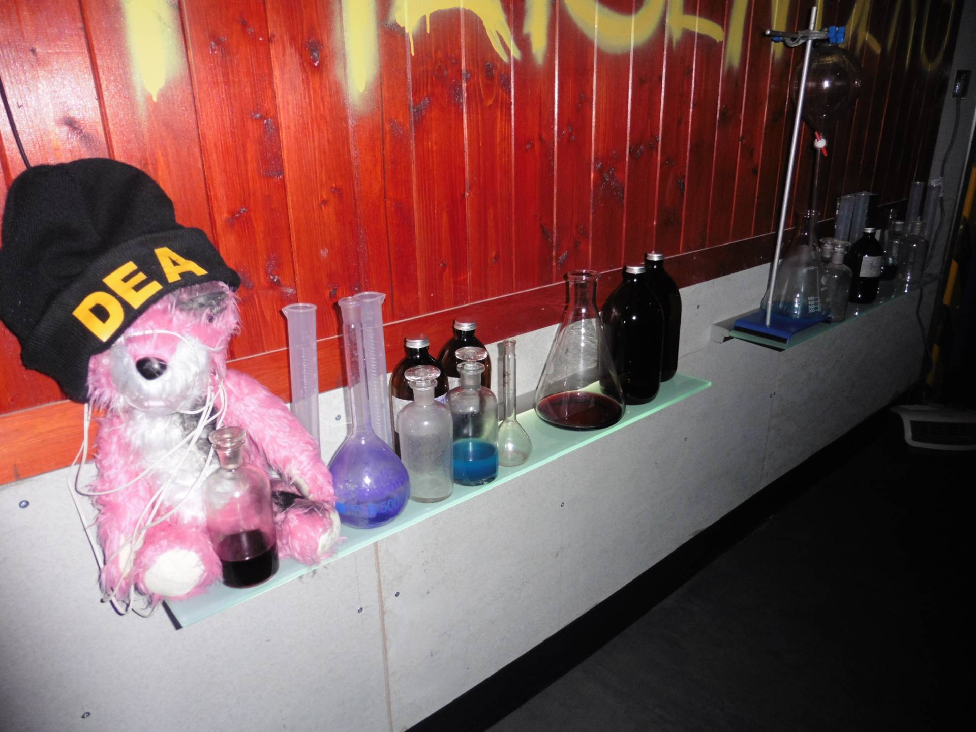 Take 3: Pink Teddy & cooking equipment @ Breaking Bad Bar - ABQ London