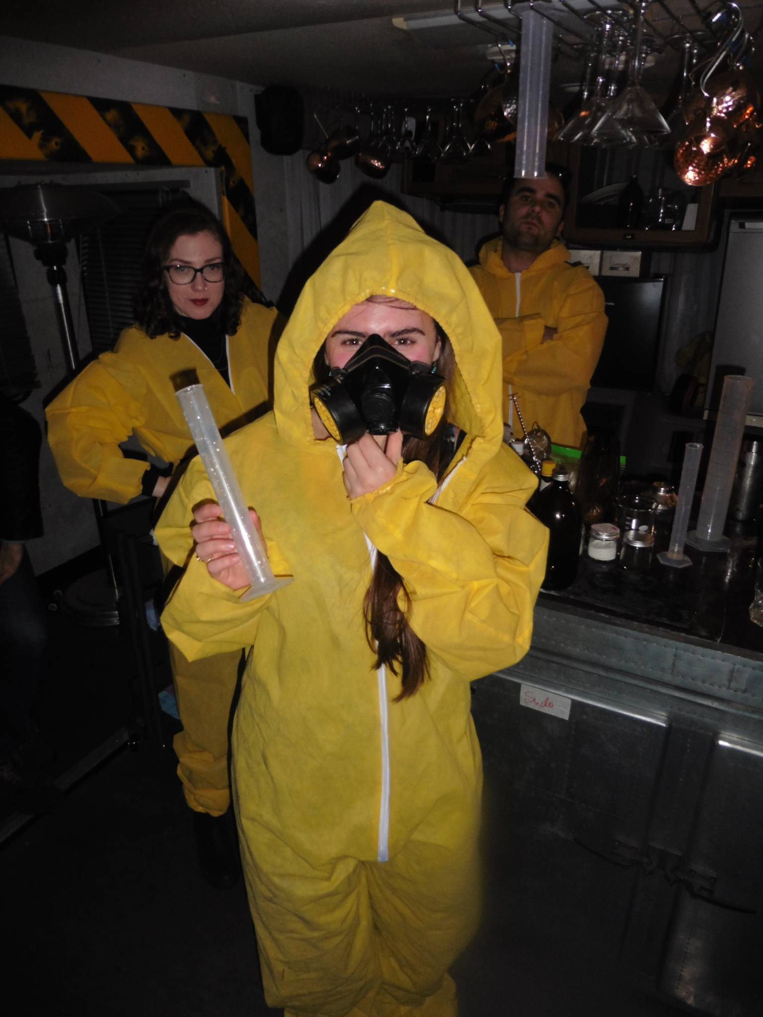 Take 3: the birthday girl getting into character @ Breaking Bad Bar - ABQ London