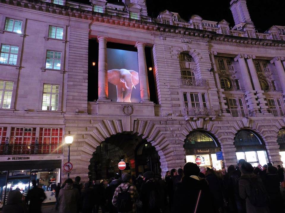 Elephantastic, Top'la Design / Catherine Garret's @ Regent Street, for Lumiere London