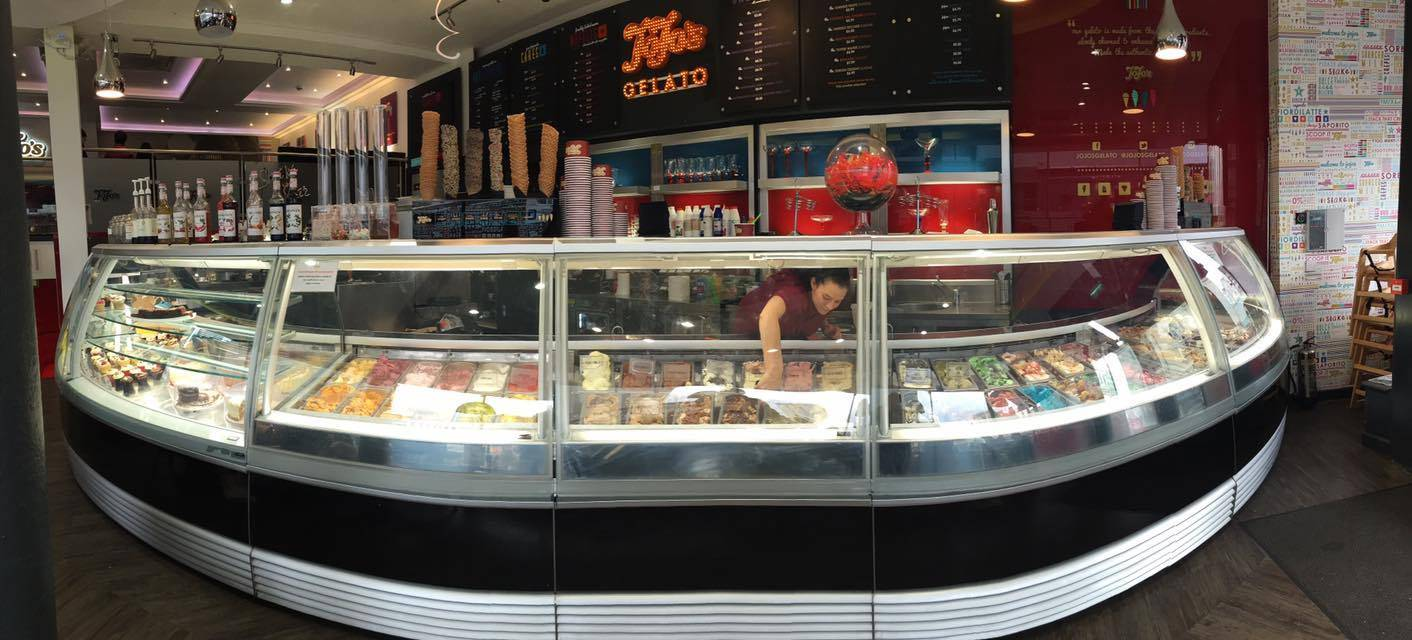 Ice Cream counter @ Jojo's Gelato - Brighton