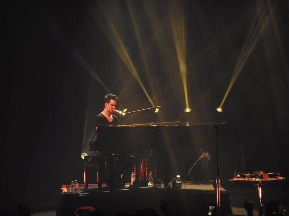 Brendon Urie of 'Panic! At The Disco' playing piano @ O2 Academy Brixton