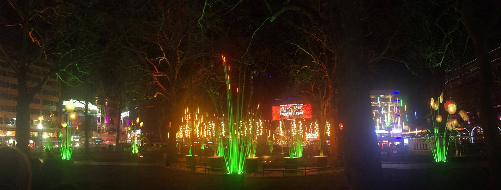 Garden of Light, TILT @ Leicester Square, for Lumiere London