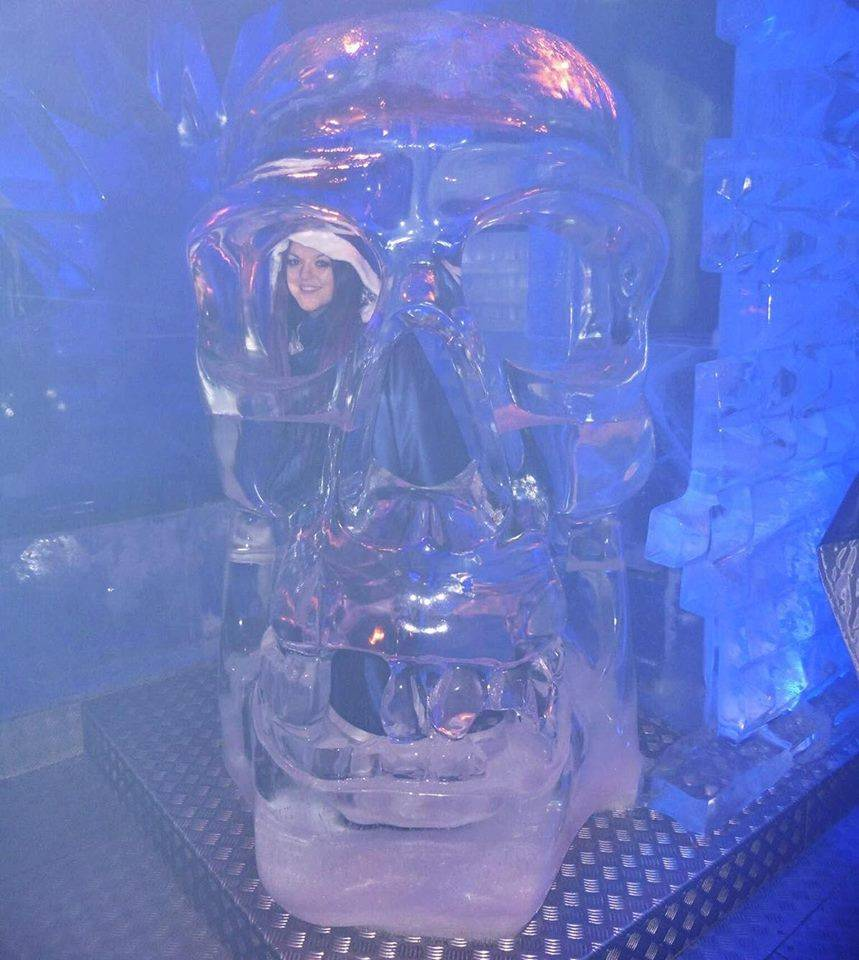 In a skull @ Ice Bar, London