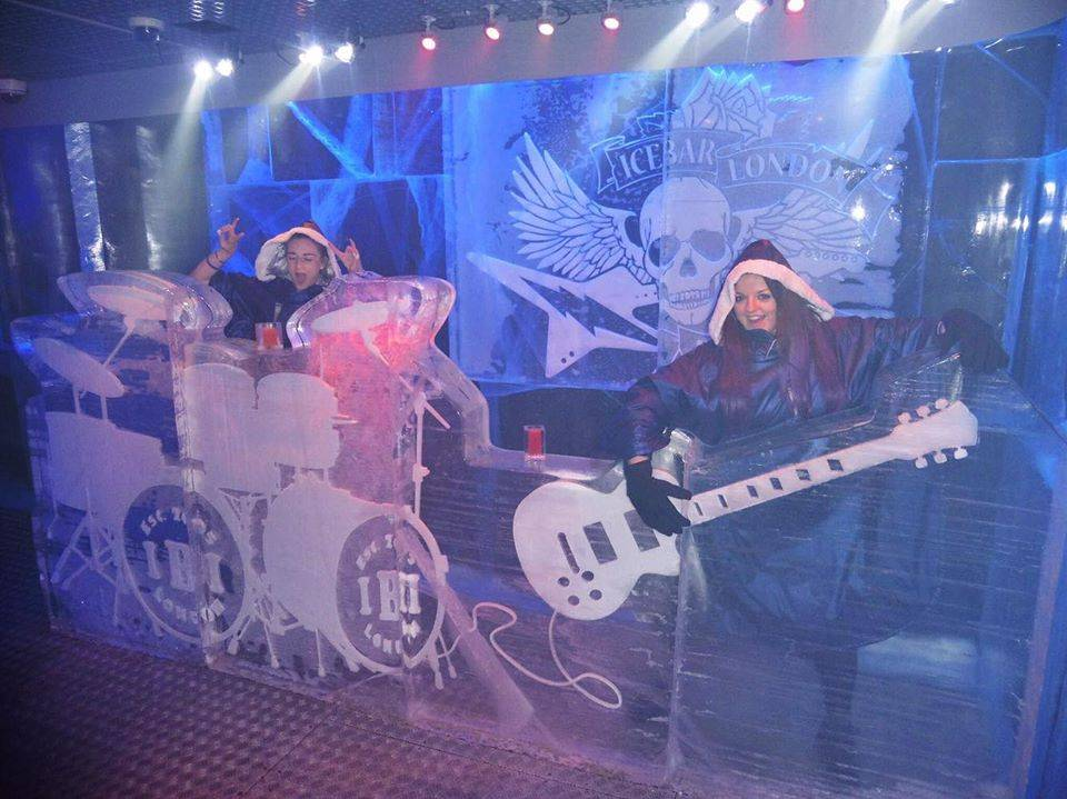 "Lauren (Sahara Splash) & I formed a ""cool"" Rock Band @ Ice Bar, London"