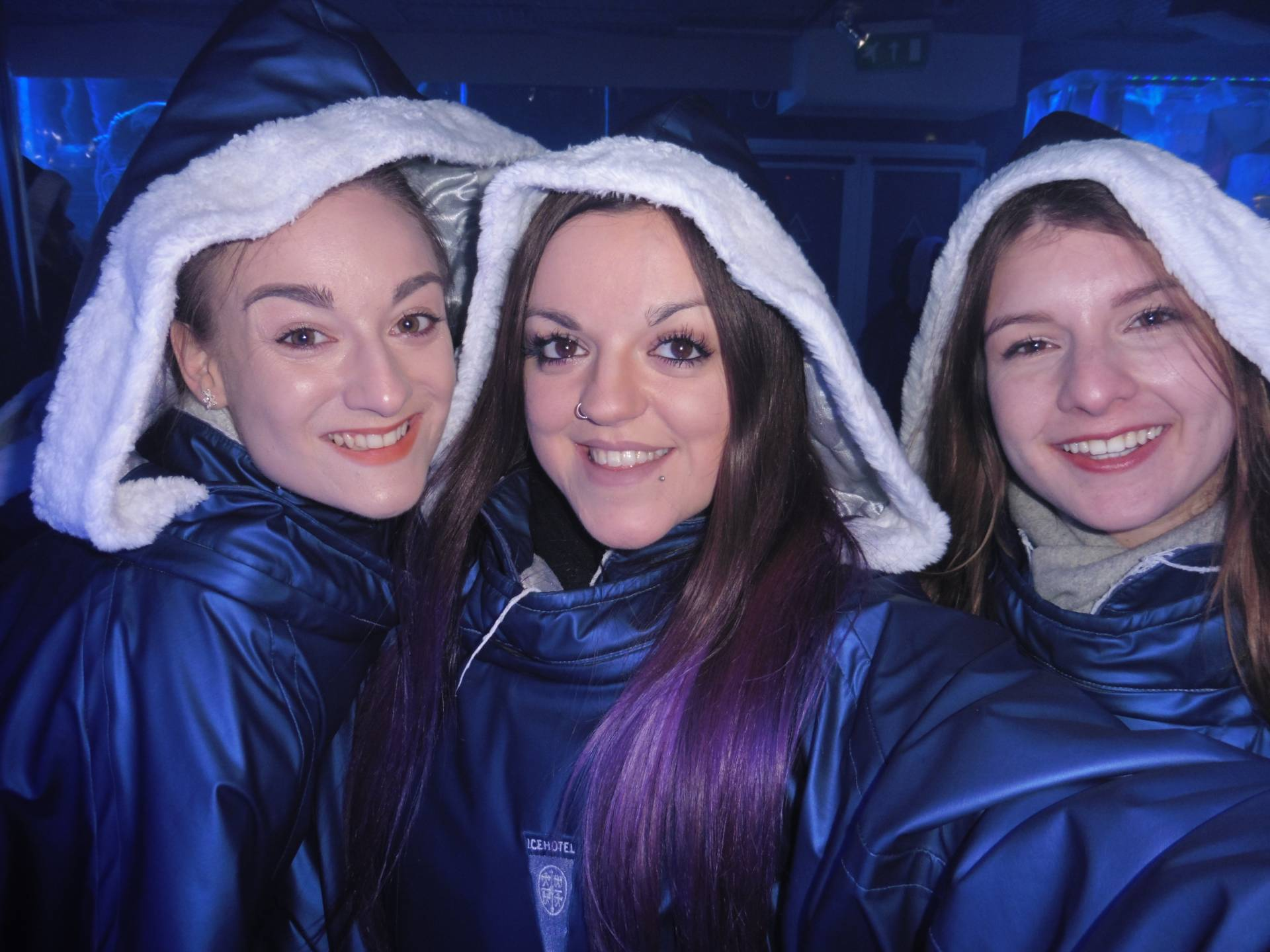 Lauren (Sahara Splash), myself & Joana (100 Things I Love) @ Ice Bar, London