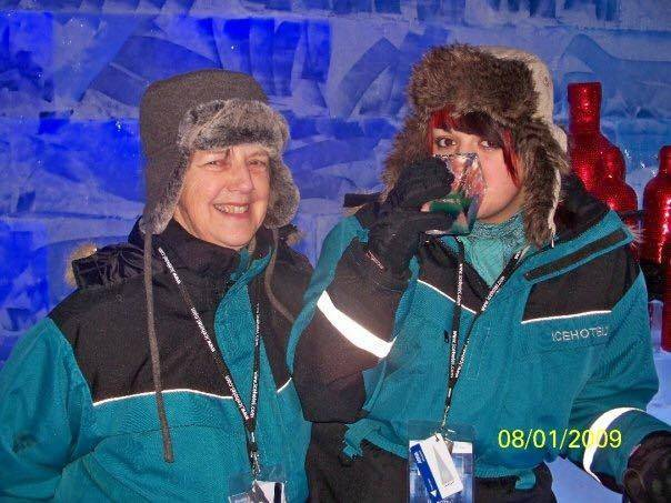 My Mum & I @ the Ice Hotel, Sweden (2009)
