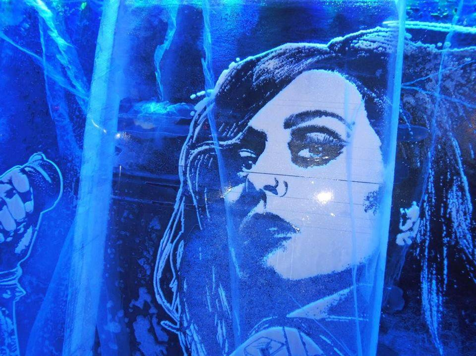 Ice Wall Art @ Ice Bar, London