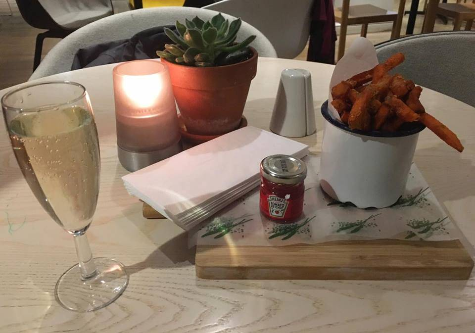 Prosecco & Sweet Potato Chips @ Urban Meadow, London