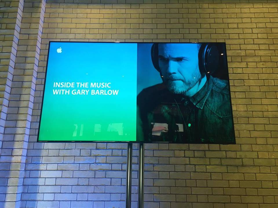 Gary Barlow Inside The Music Apple Store Covent Garden London