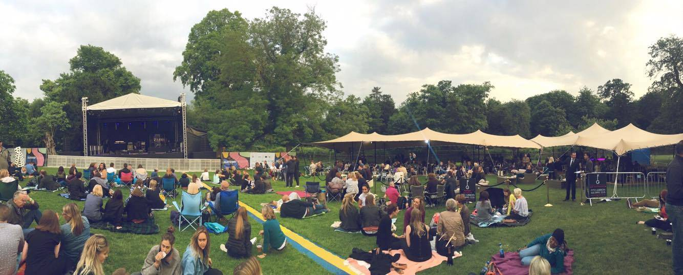 The Summer Sessions event set-up @ Chiswick House & Gardens