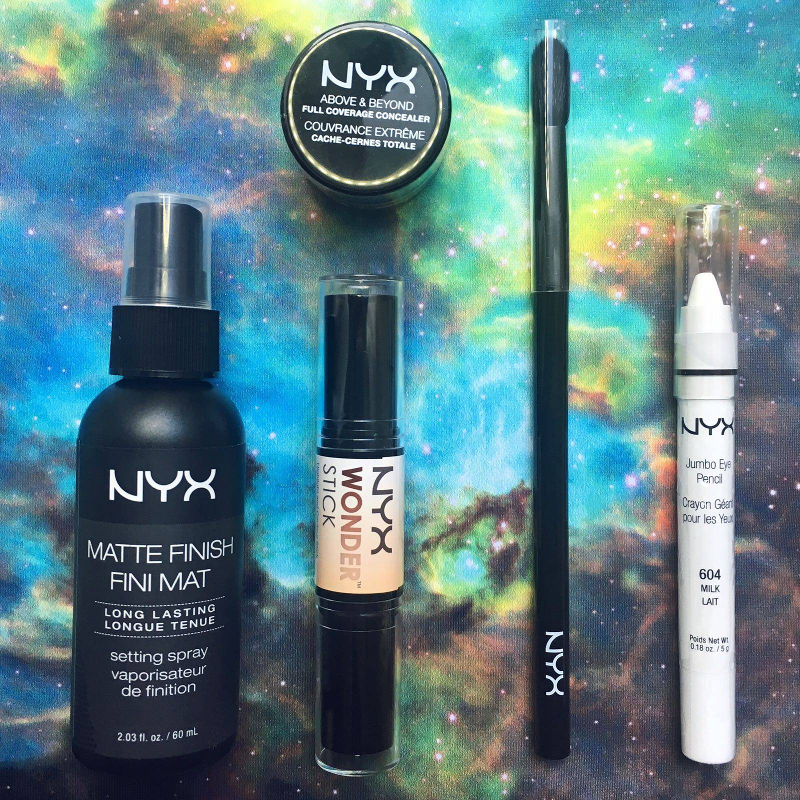 olympia beauty black milk green galaxy nyx make-up