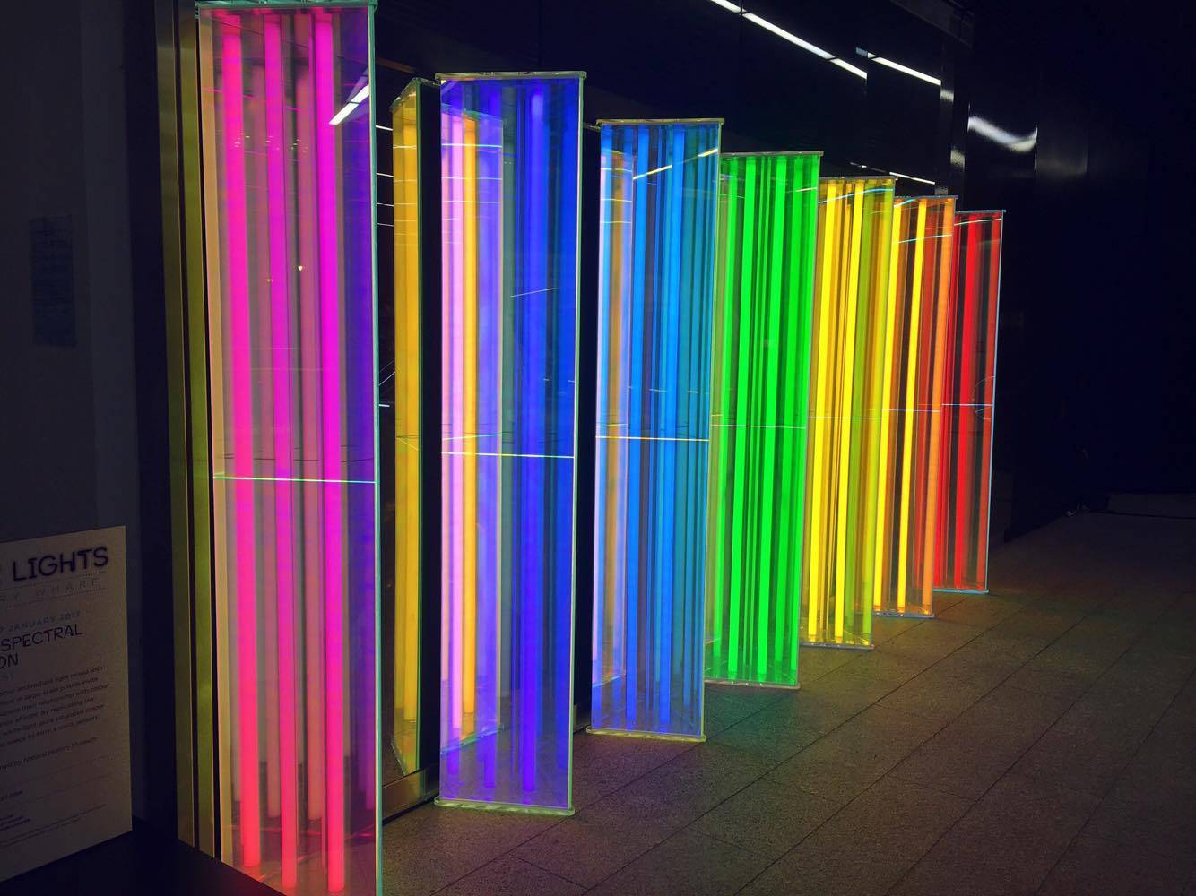 OUR SPECTRAL VISION, LIZ WEST, CROSSRAIL PLACE GROUND LEVEL @ Winter Lights, Canary Wharf