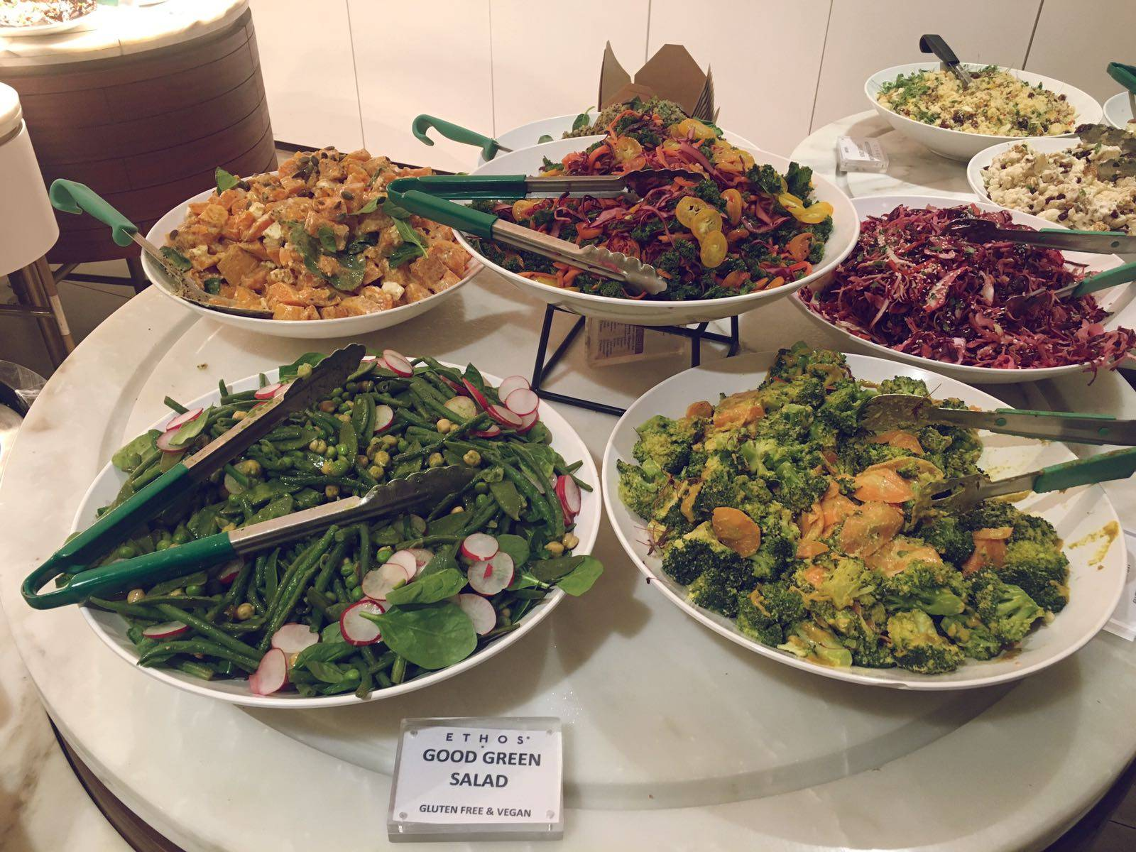 Ethos Main Course Buffet Selection London Oxford Street Vegan Vegetarian Restaurant