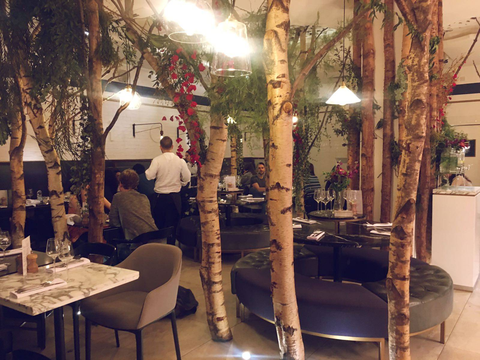 Ethos Interior London Oxford Street Vegan Vegetarian Restaurant Review Blogger