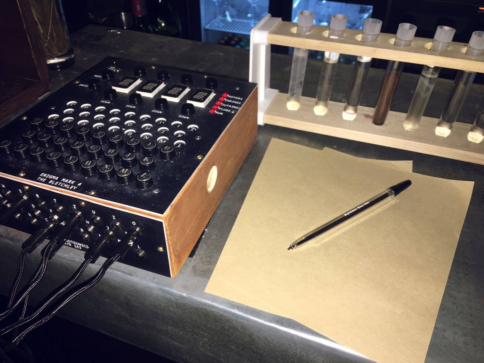 Enigma Machines @ The Bletchley: London's Code-Cracking Cocktail Bar