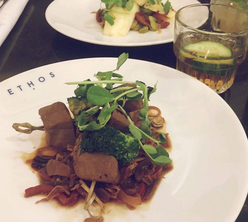 Ethos Seitan Skewers London Oxford Street Vegan Vegetarian Restaurant Review Blogger
