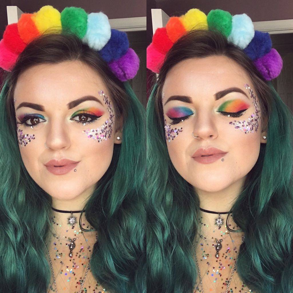 Rainbow Eyeshadow Makeup Pride Dust and Dance Glitter