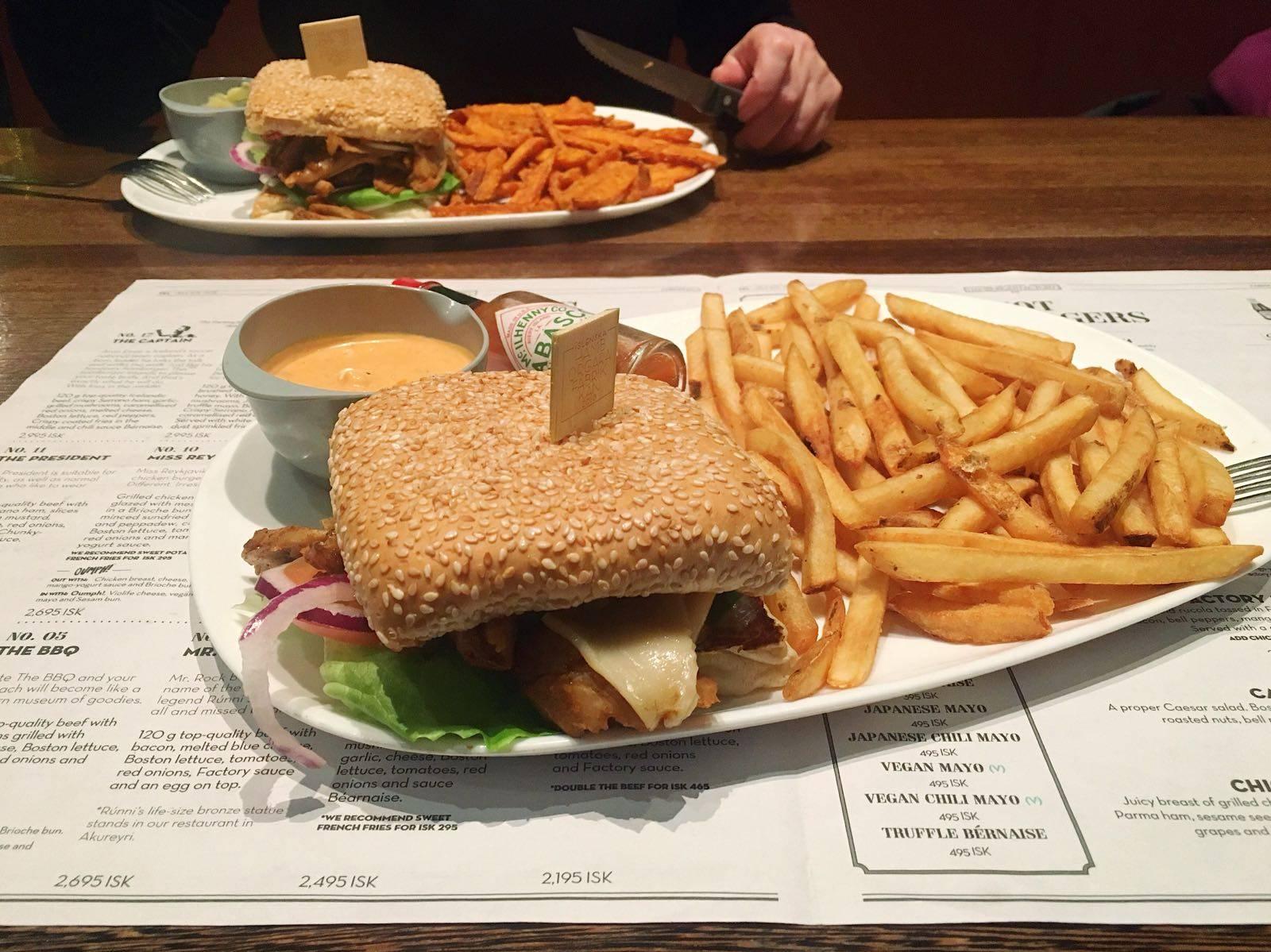 Hamborgarfabrikkan Vegan Burgers Reykjavik Iceland Oumph!