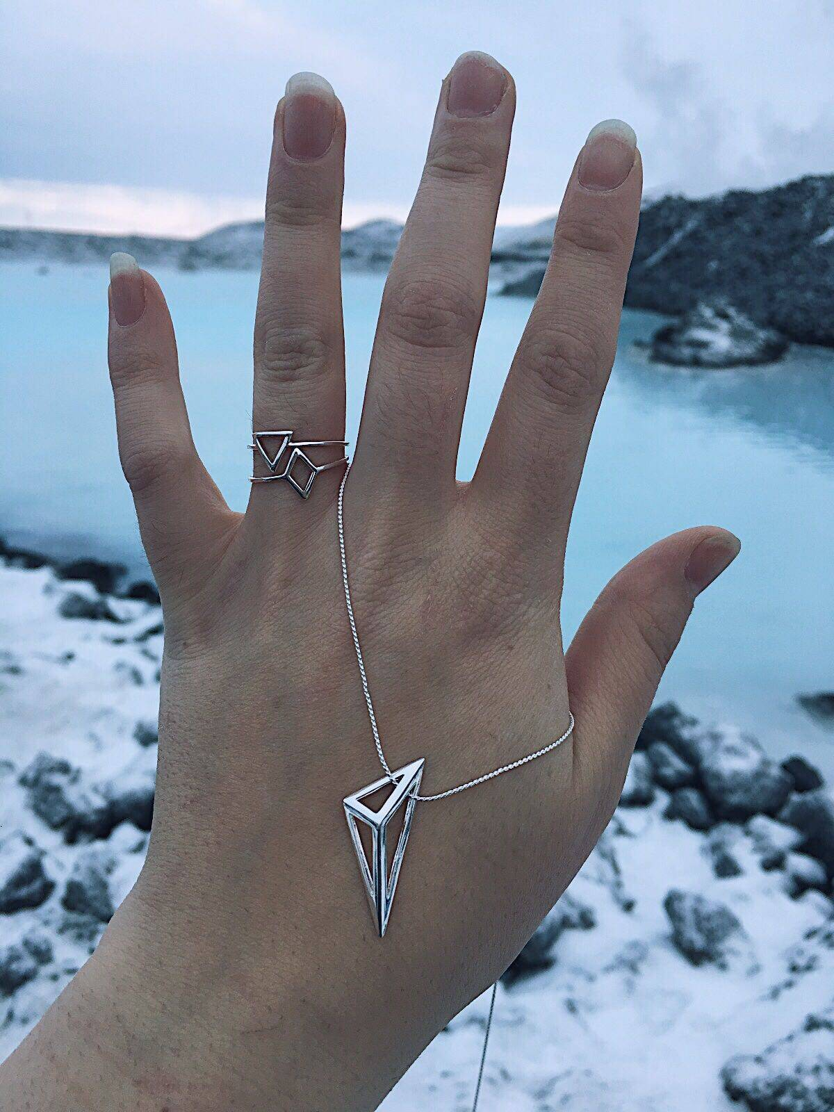 jewellerybox sterling silver jewellery necklace triangle pendant