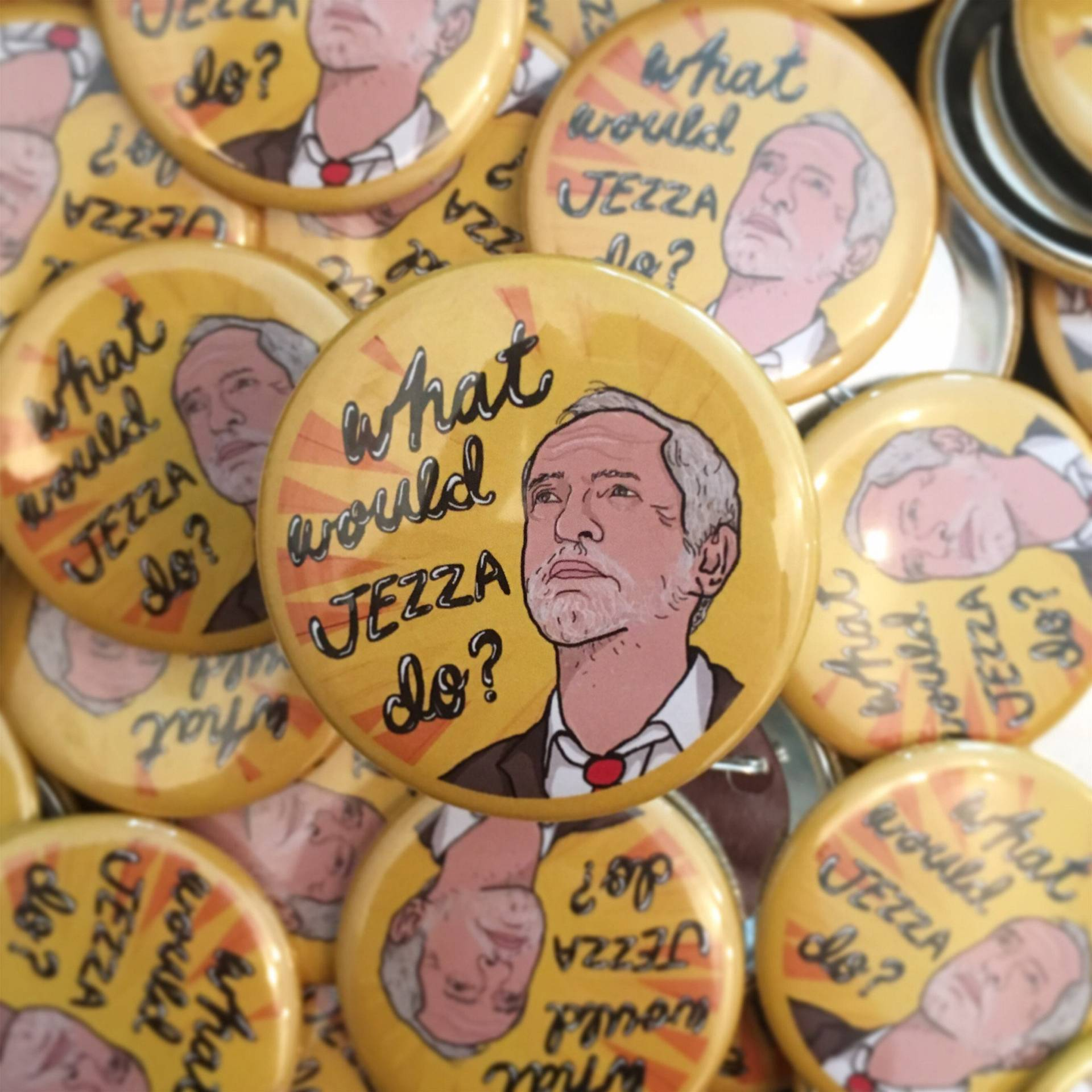 Moocy Lu's Designs What Would Jezza Do Badge Jeremy Corbyn