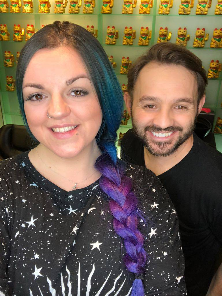 Mermaid Hair Blue Purple Ombre Mitch Zidu Danny Oh Salon Manic Panic Hair Dye