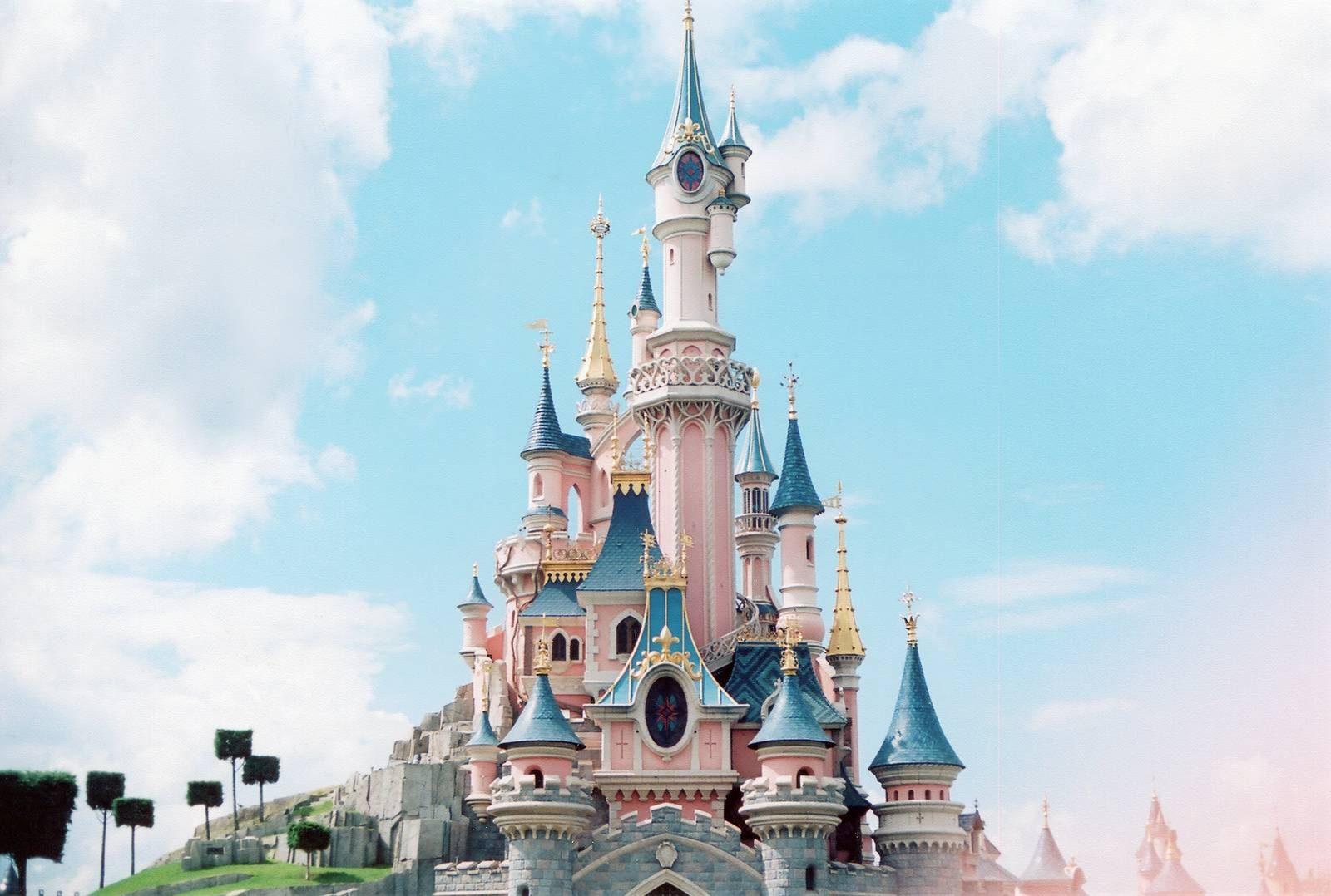 Disneyland Paris France Castle Princess Blue Sky