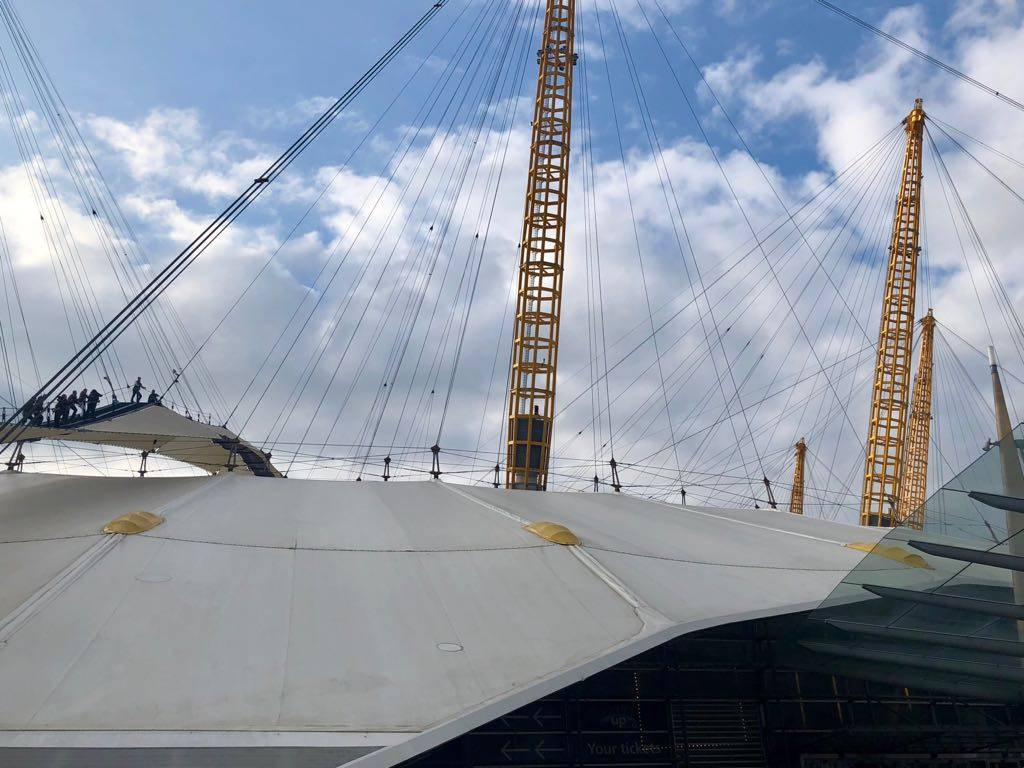 Up At The O2 Climbing Over The Millenial Dome